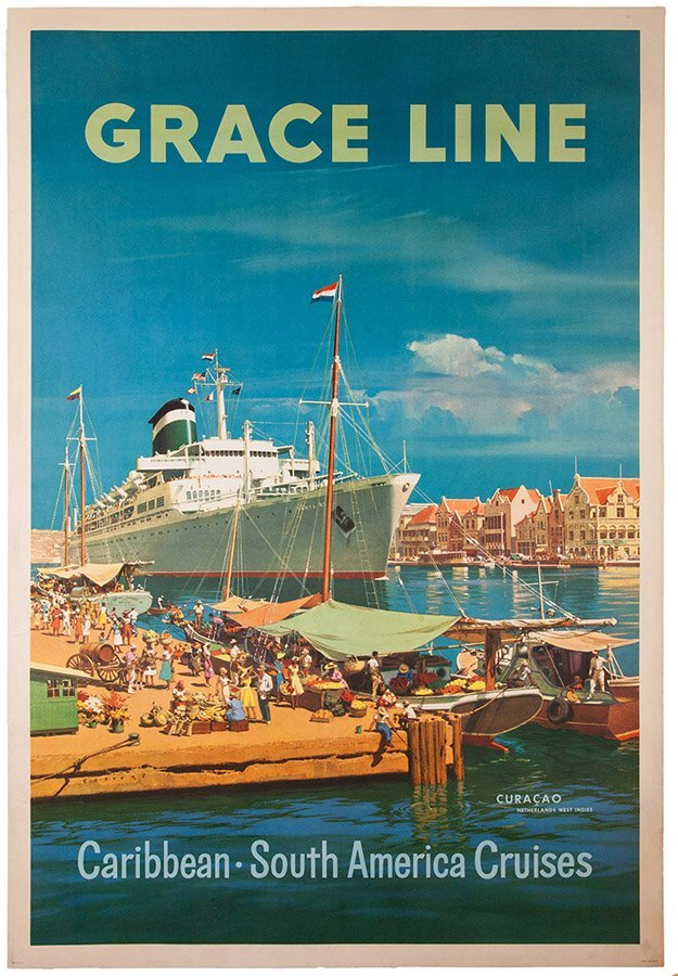 Grace Line: Caribbean, South American Cruises. 1957.