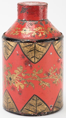Changing Canister. French, ca. 1880. Toleware canister