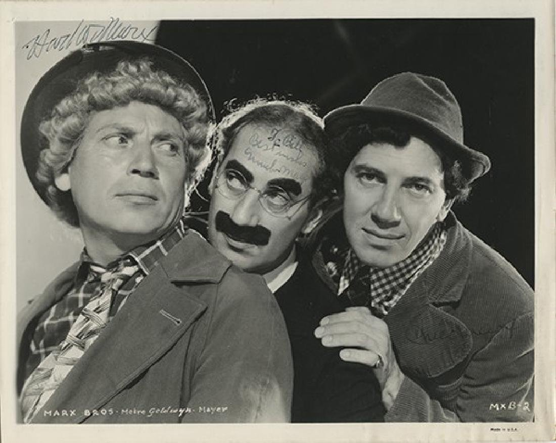 The Marx Brothers Publicity Still Signed by Groucho,