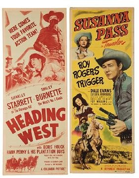 Group of Nine Insert-Sized Western Movie Posters.