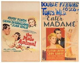Group of 19 1930s – 40s Movie Window Cards.