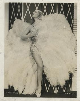 Sally Rand Burlesque Portrait.