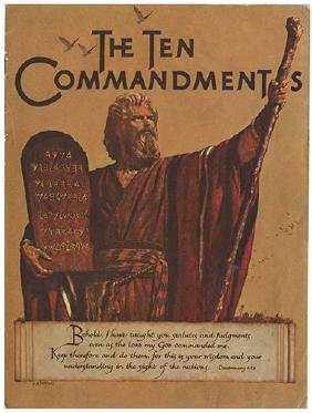 The Ten Commandments Movie Book [Signed by Cecil B.