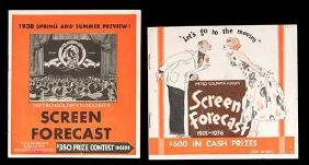 1935-36 and 1938 MGM Screen Forecast.