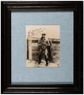 Clayton Moore/The Lone Ranger Signed Portrait