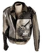 Maziar Vintage Studded Leather Motorcycle Jacket.