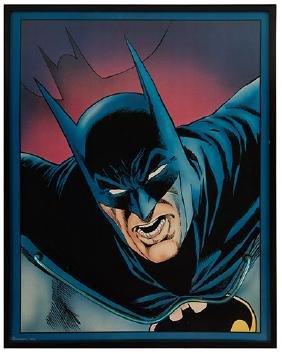 Vintage Batman Portrait Neon Wall Sign.