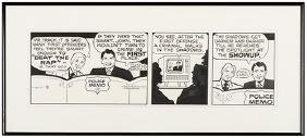 Original Daily Newspaper Comic Strip Art for Dick
