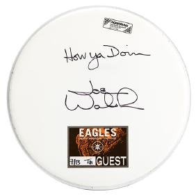 The Eagles Joe Walsh Autographed Drum Head.