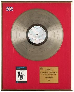 Fleetwood Mac Rumours BPI Gold Album Award.