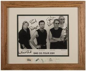 Three Rock-Band Photographs in Matching Frames, Two