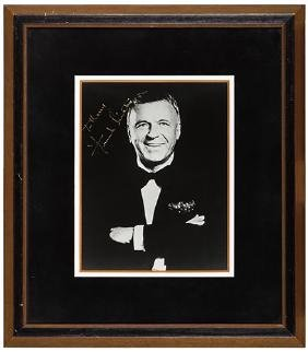 Frank Sinatra Signed Portrait Photo.