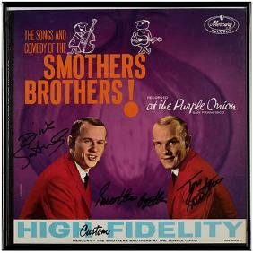 Pair of Smothers Brothers Autographed Album Covers.