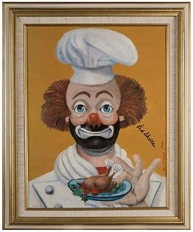"""Red Skelton """"The Chef"""" Limited Edition Painting"""