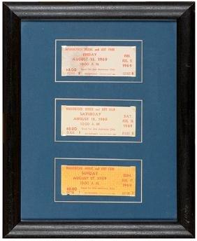 Group of Three 1969 Woodstock Music and Art Fair