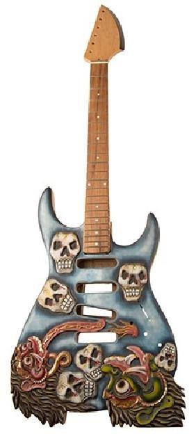 Guitar Body Design Concept Example.