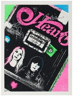 Heart Poster Signed by Nancy and Ann Wilson.