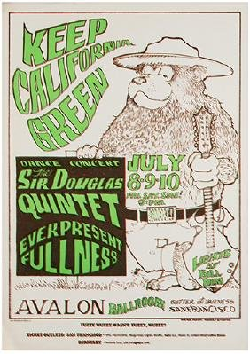 """Group of Six """"Pirate"""" Edition Psychedelic Rock Posters."""