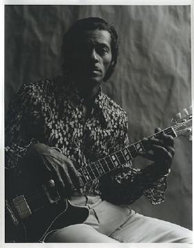 Chuck Berry 1969 Studio Portrait Photograph.