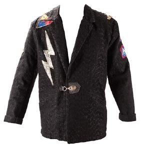 Kiss Ace Frehley Stage-Worn Lightning Bolt Jacket and