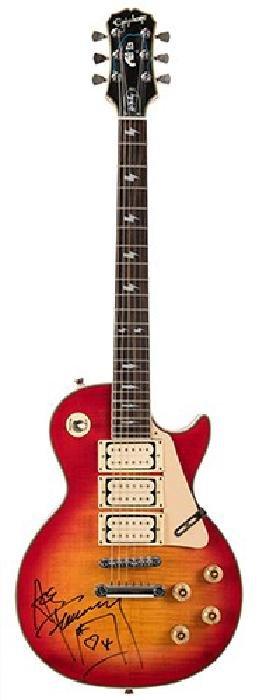 """Ace Frehley Signed Epiphone """"Budokan"""" Les Paul"""