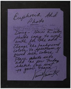 Kiss Vinnie Vincent Autograph Letter Signed.
