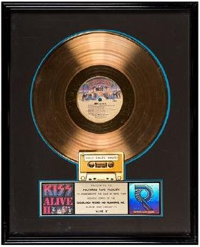 "Kiss ""Alive II"" RIAA Album and Cassette Gold Sales"