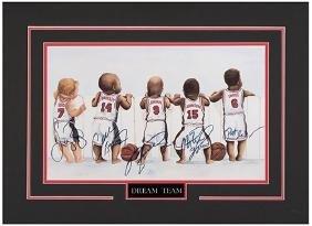 Dream Team 1994 USA Basketball Signed Caricature