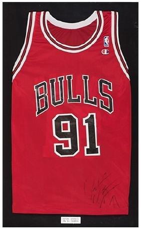 Dennis Rodman Framed Signed Jersey.