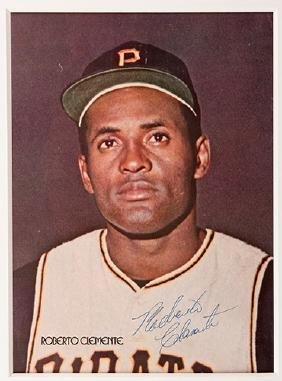 Color Photograph Signed by Roberto Clemente and Johnny