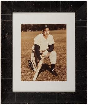 Joe DiMaggio Signed Portrait Photograph.