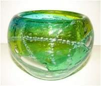 108: SWEDISH ART GLASS VASE