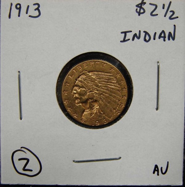 2: 1913 $2 1/2 INDIAN GOLD COIN