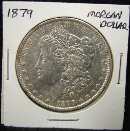 1: 1879 U.S. MORGAN SILVER DOLLAR