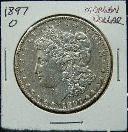 6: 1897 U.S. MORGAN SILVER DOLLAR
