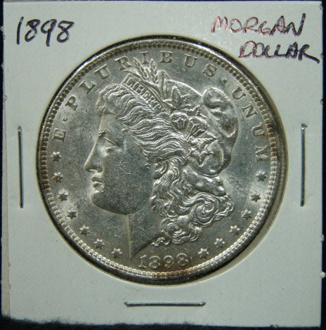 7: 1898 U.S. MORGAN SILVER DOLLAR