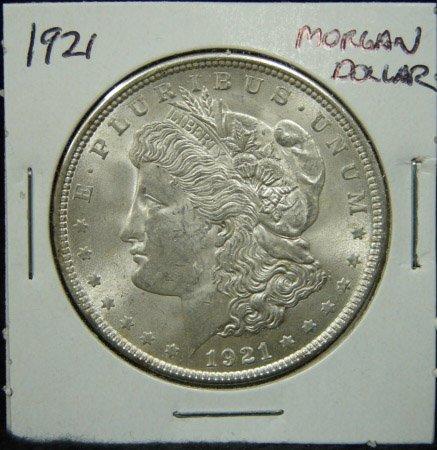 8: 1921 U.S. MORGAN SILVER DOLLAR