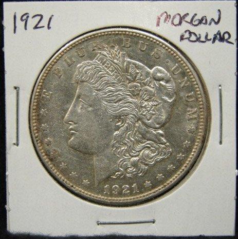 9: 1921 U.S. MORGAN SILVER DOLLAR