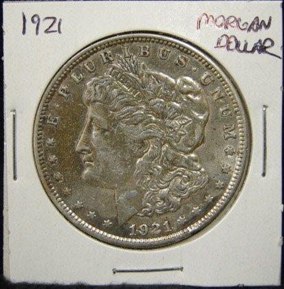 10: 1921 U.S. MORGAN SILVER DOLLAR