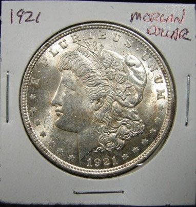 11: 1921 U.S. MORGAN SILVER DOLLAR