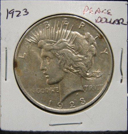 17: 1923 U.S. PEACE SILVER DOLLAR