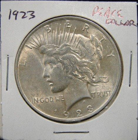 18: 1923 U.S. PEACE SILVER DOLLAR