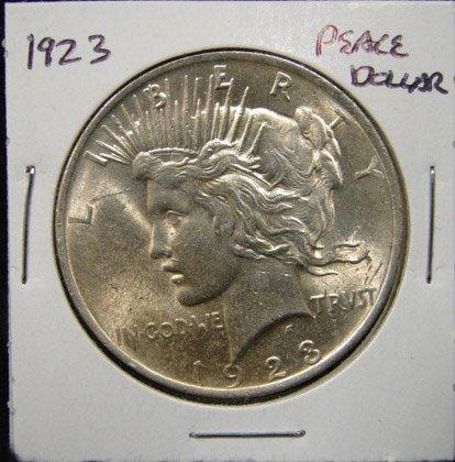 19: 1923 U.S. PEACE SILVER DOLLAR