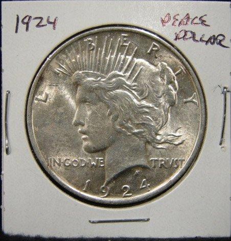20: 1924 U.S. PEACE SILVER DOLLAR