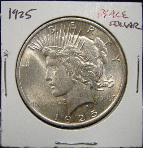 21: 1925 U.S. PEACE SILVER DOLLAR