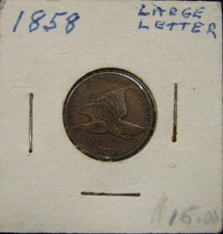 24: 1858 U.S. FLYING EAGLE CENT