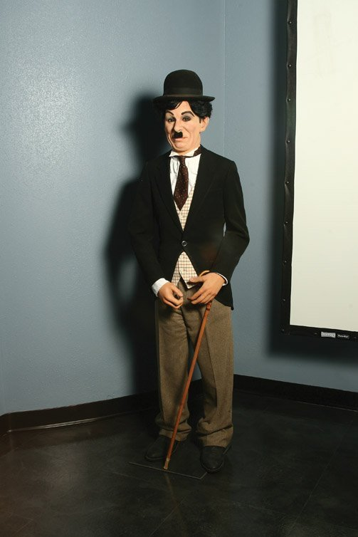2: Charlie Chaplin wax figure as The Tramp