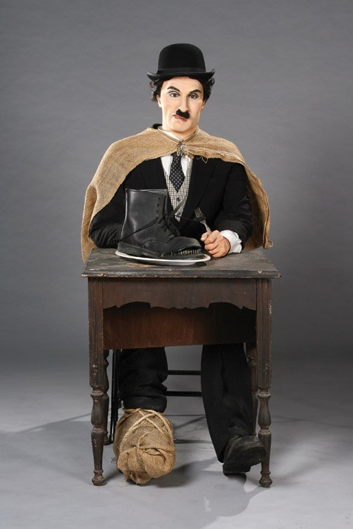 3: Charlie Chaplin wax figure from The Gold Rush
