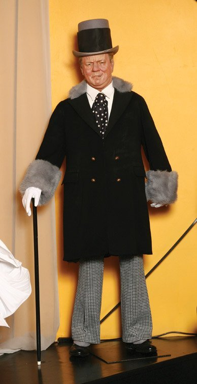 4: W.C. Fields wax figure