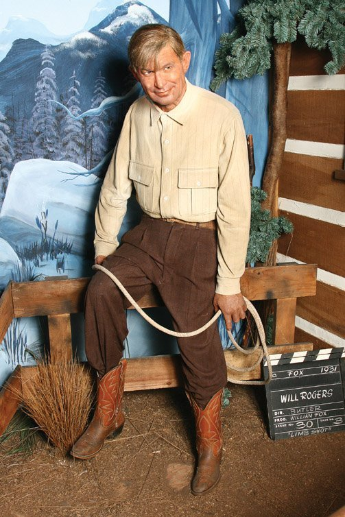 6: Will Rogers wax figure